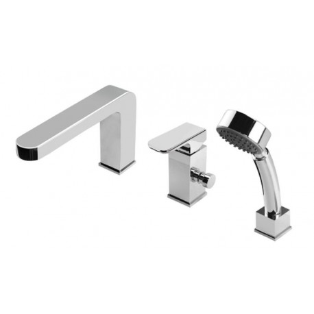 Deante Azalia 3-hole bath mixer chrome