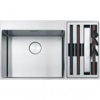 Franke Box Center BWX 220-54-27 Bowl with accessories on the right side Stainless steel