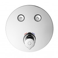 Flova Allore Go Click 2 Button Trim Kit With 2 Button Thermostatic Concealed Valve