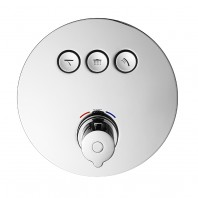Flova Allore Go Click 3 Button Trim Kit With 3 Button Thermostatic Concealed Valve