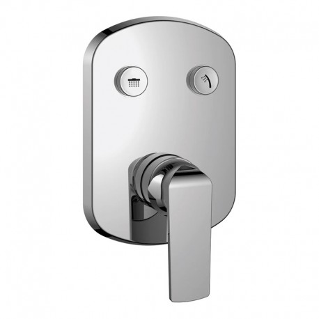 Flova Fusion GoClick 2 Outlet Concealed Manual Shower Valve with Easyfit Installation Box