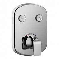Flova Fusion GoClick 2 Outlet Concealed Thermostatic Shower Valve with Easyfit Installation Box