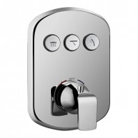 Flova Fusion GoClick 3 Outlet Concealed Thermostatic Shower Valve with Easyfit Installation Box