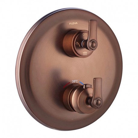 Flova Liberty 3 Outlet Concealed Thermostatic Mixer Valve with Easyfit SmartBOX - Oil Rubbed Bronze