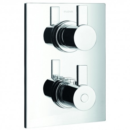 Flova Str8 Concealed Thermostatic Shower Mixer with 3-Way Diverter Valve