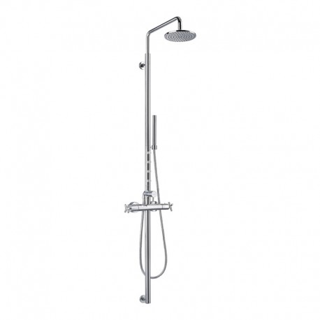 Flova XL Thermostatic Shower Column with Overhead Shower, Handset Kit & Body Jets