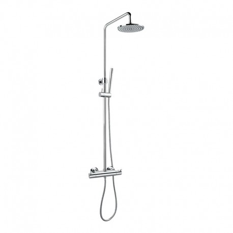 Flova Levo Exposed Thermostatic Shower Set with Overhead & Handset