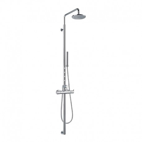 Flova Levo Complete Thermostatic Shower Set with Overhead Shower, Handset Kit & Body Jets