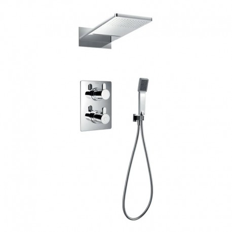 Flova Essence Concealed Thermostatic Mixer Valve with Dual-Function Overhead Shower & Handset Kit