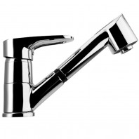 Franke Nogat Pull Out Spray Chrome Kitchen Sink Mixer Tap