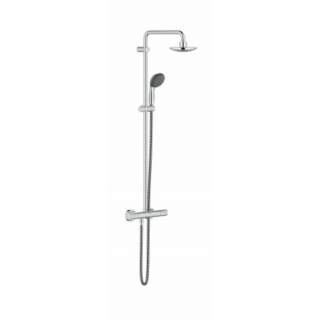 Grohe Vitalio Start Thermostatic Shower System Exposed Mixer Set Rain Overhead