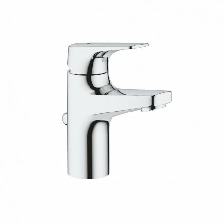 Grohe BAUFLOW Small Bathroom Basin Tap Pop-Up Waste Full Chrome
