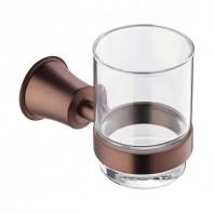 Flova Liberty Glass Tumbler & Holder - Oil Rubbed Bronze