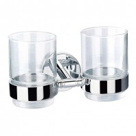 Flova Coco Double Tumbler & Holder with Glasses