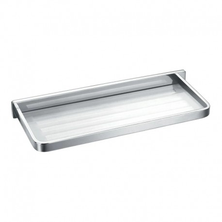 Flova Sofija Glass & Chrome Bathroom Shelf 330mm
