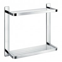 Flova Sofija Double Glass Shelf 323mm x 321mm
