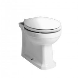 Tavistock Vitoria Back To Wall Toilet - Soft Close Seat And Hinges White