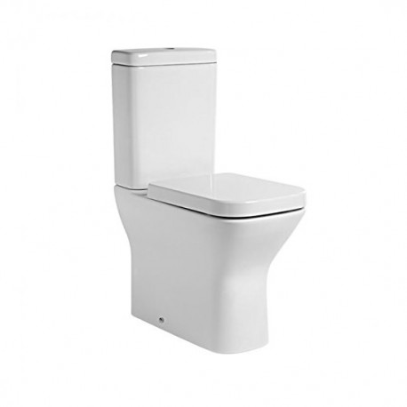 Tavistock Structure Comfort Height Close Coupled Toilet And Push Button Cistern - Soft Close Seat White