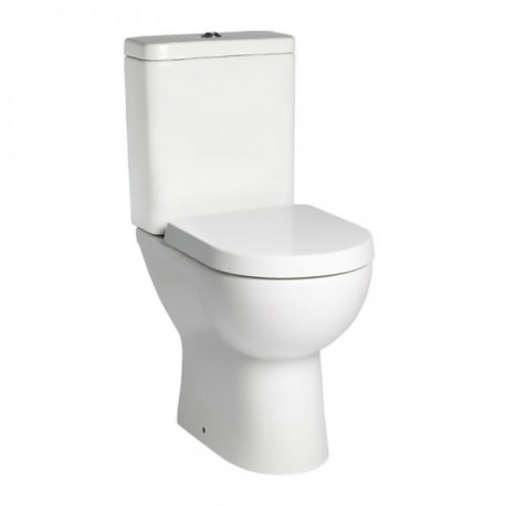 Tavistock Lon Comfort Height Close Coupled Toilet And Push Button Cistern - Soft Close Seat White