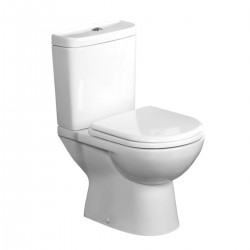 Tavistock Micra Close Coupled Toilet And Push Button Cistern - Soft Close Seat White