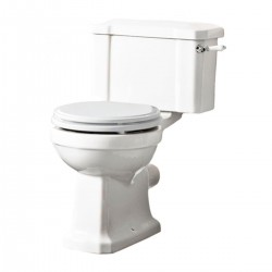 Tavistock Vitoria Close Coupled Toilet And Lever Cistern - Soft Close Seat And Hinge White