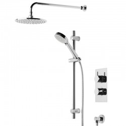 Tavistock Index Thermostatic Dual Function Shower Mixer Valve With Round Shower Head Chrome