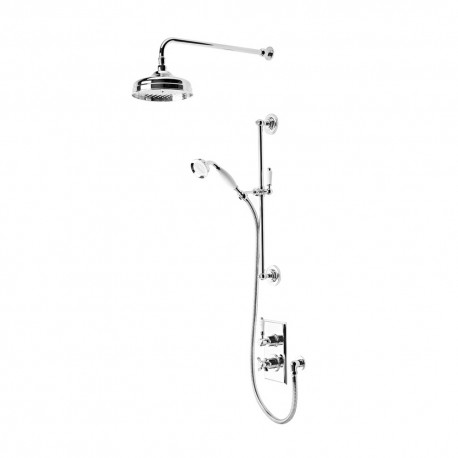 Tavistock Varsity Thermostatic Concealed Dual Function Shower Valve System Chrome