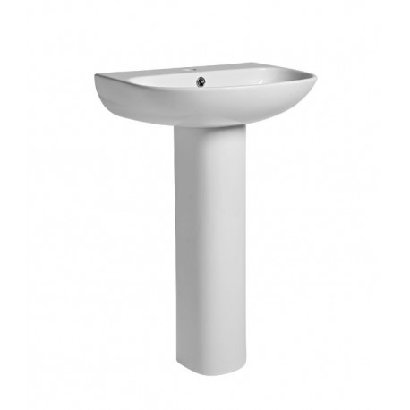 Tavistock Orbit Basin With Full Pedestal - 550mm  - 1 Tap Hole