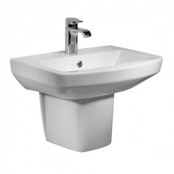 Tavistock Vibe Basin With Semi Pedestal - 450mm  - 1 Tap Hole