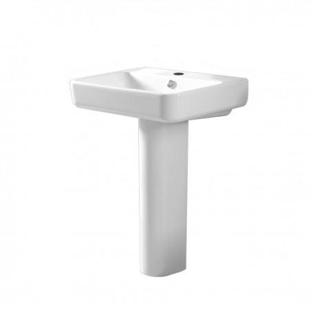 Tavistock Agenda Basin With Full Pedestal - 800mm  - 1 Tap Hole
