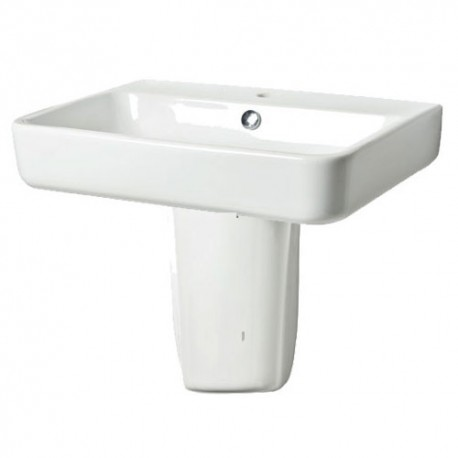 Tavistock Agenda Basin With Semi Pedestal - 800mm  - 1 Tap Hole