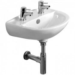 Tavistock Micra Basin With Full Pedestal - 450mm  - 1 Tap Hole