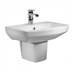 Tavistock Vibe Basin With Semi Pedestal - 550mm  - 1 Tap Hole