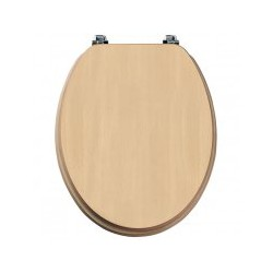 Tavistock Millennium Standard Toilet Seat And Chrome Hinges - Beech