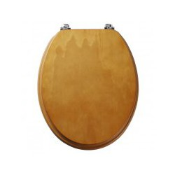 Tavistock Millennium Standard Toilet Seat And Chrome Hinge - Antique Pine