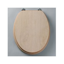 Tavistock Millennium Standard Toilet Seat And Chrome Hinges -  Limed Oak