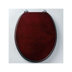 Tavistock Millennium Standard Toilet Seat And Chrome Hinges - Mahogany
