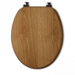 Tavistock Millennium Standard Toilet Seat And Chrome Hinges -Natural Oak