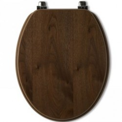 Tavistock Millennium Standard Toilet Seat And Chrome Hinges - Walnut