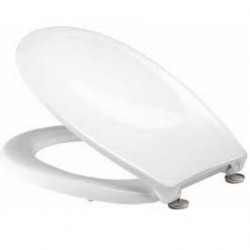 Tavistock Strata Standard Toilet Seat And Chrome Hinges - White
