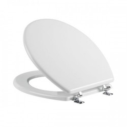 Tavistock Topaz Standard Toilet Seat And Chrome Hinges - White