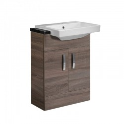 Tavistock Courier 2-Door Floor Mounted Countertop Vanity Unit With Basin - 600mm  - Havana Oak