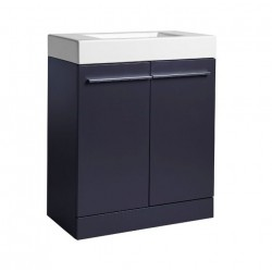 Tavistock Kobe 2-Door Floor Mounted Vanity Unit With Basin - 700mm  - Storm Grey