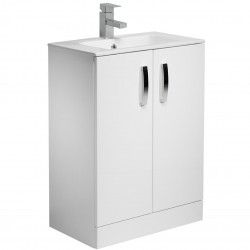 Tavistock Swift 2-Door Floor Mounted Vanity Unit With Basin - 600mm  - White