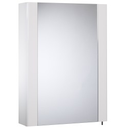 Tavistock Detail 1-Door Mirror Cabinet - 475mm  - Gloss White