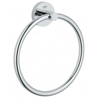 Grohe Essentials Towel Holder Ring Chrome Silver 8 Inch Bathroom Home New