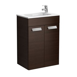 Roca Debba Compact Unit And Basin 500mm 2 Door -  Textured Wenge
