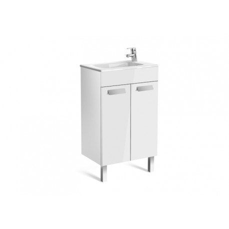 Roca Debba Compact Unit And Basin 500mm 2 Door -  Gloss White