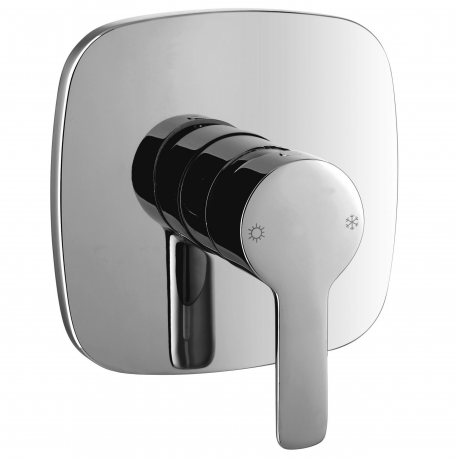 Hudson shower mixer for concealed installation