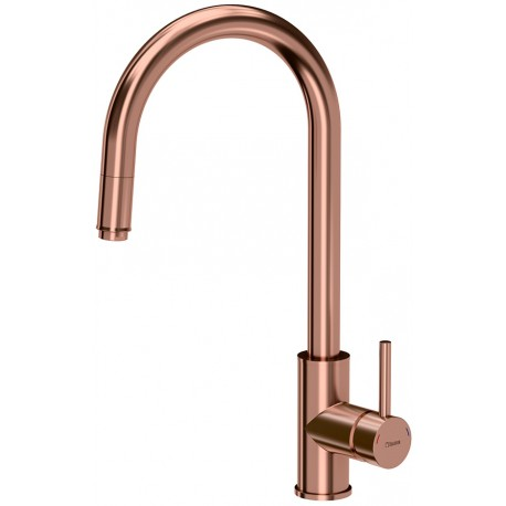 Quadron Jennifer Pull Out Tall  Kitchen Sink Mixer Tap Coppe Finish